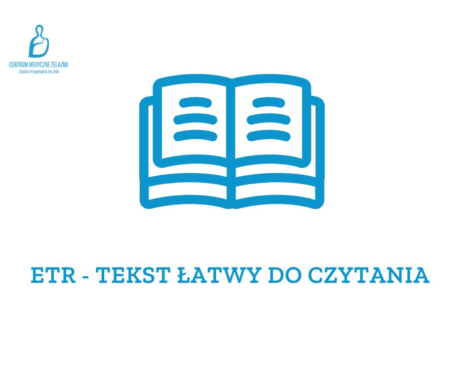 otwiera stronę z tekstem łatwym do czytania