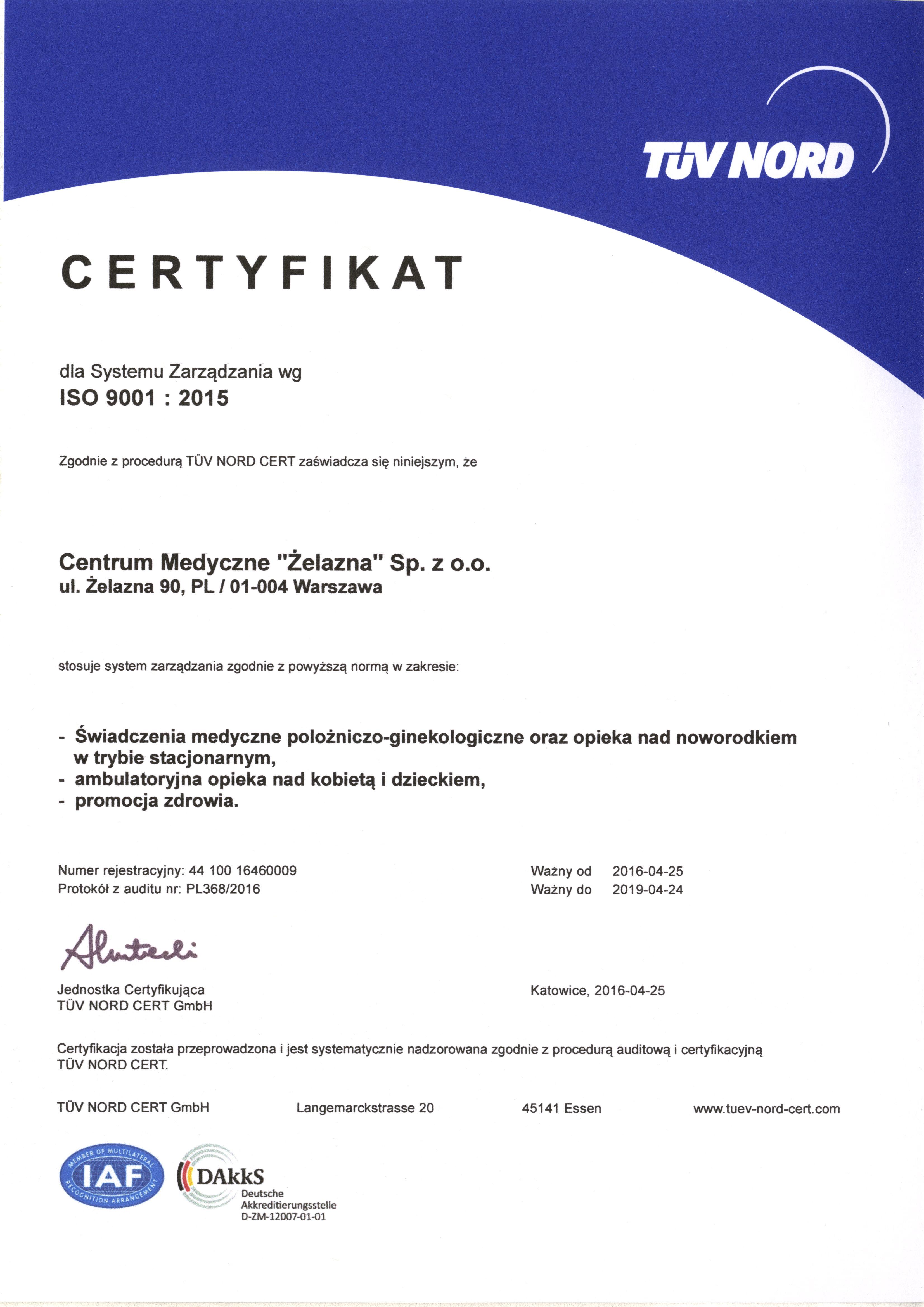 CM Zelazna DAkkS-QMS16-001